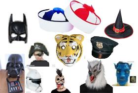 Maszkok, álarcok, kalapok